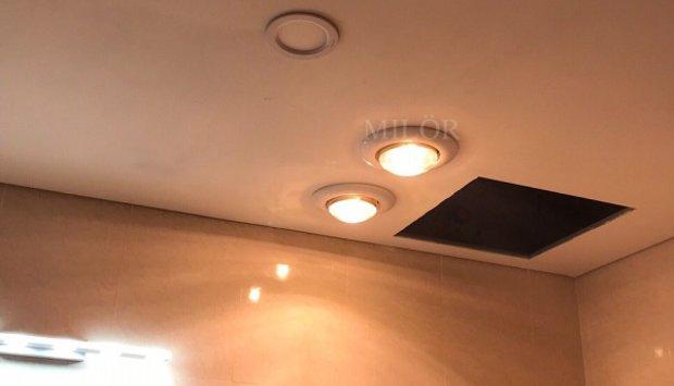 Đèn sưởi 1 bóng âm trần cho nhà tắm không gian sống lý tưởng
