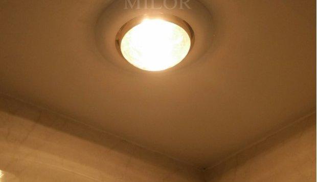 Lắp đặt đèn sưởi Milor phòng tắm 1 bóng âm trần