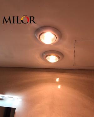 Đèn sưởi hồng ngoại âm trần phòng tắm 2 bóng ML - 6010