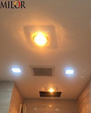 Đèn sưởi nhà tắm hồng ngoại 1 bóng âm trần Ml - 6008