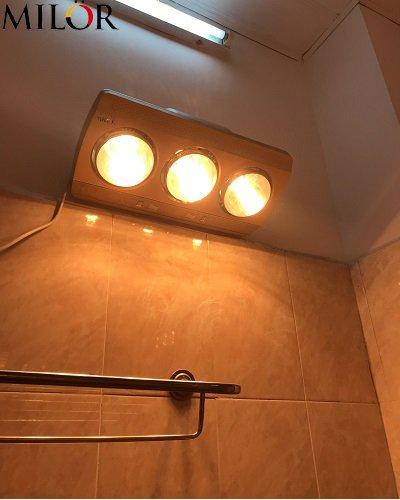 Đèn sưởi hồng ngoại phòng tắm 3 bóng Milor