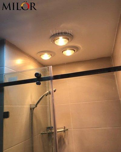 Đèn sưởi âm trần nhà tắm 3 bóng Milor