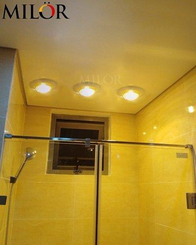 Đèn sưởi nhà tắm Milor âm trần 1 bóng