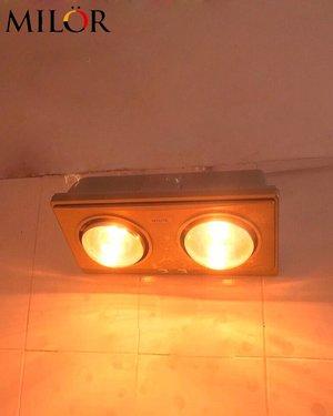 Đèn sưởi hồng ngoại 2 bóng treo tường Milor