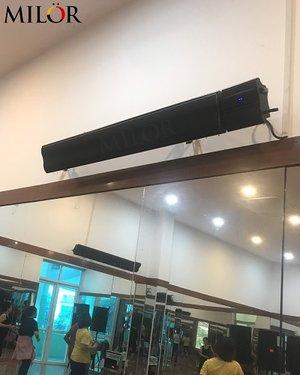Máy sưởi hồng ngoại phòng tập hot yoga Milor