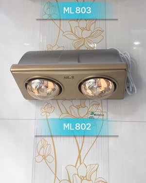 Đèn sưởi 3 bóng treo tường phòng tắm