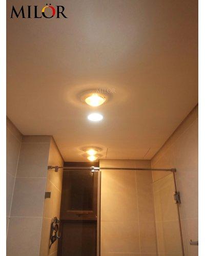 Đèn sưởi âm trần 2 bóng nhà tắm