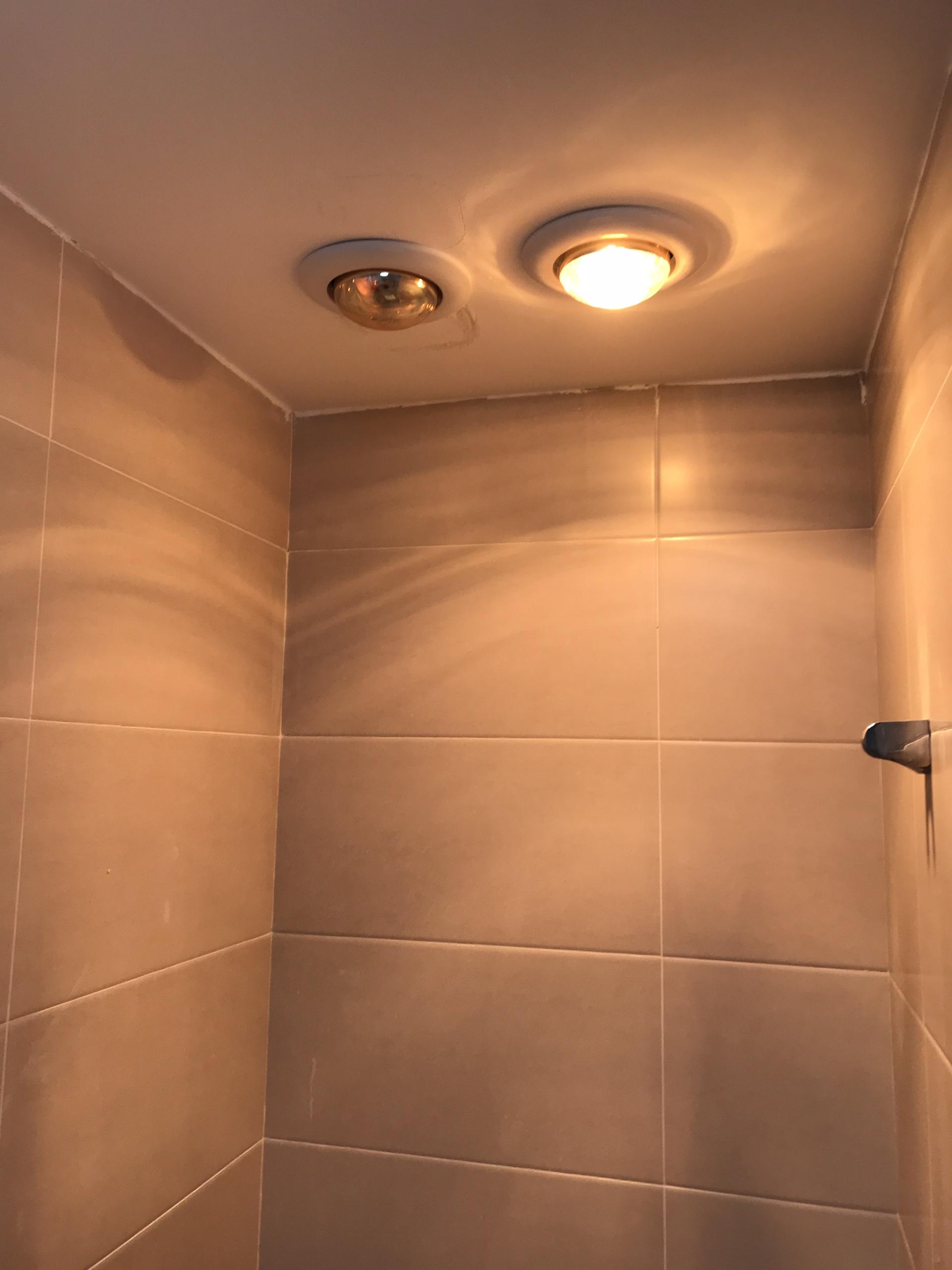 Đèn sưởi phòng tắm 1 bóng âm trần Milor